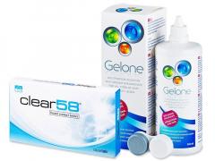 Clear 58 (6 lenti) + soluzione Gelone 360 ml