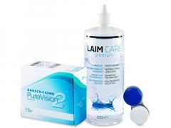 PureVision 2 (6 lenti) + soluzione Laim-Care 400 ml