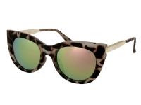 Lenti a contatto - Occhiali da sole Alensa Cat Eye Havana Pink Mirror