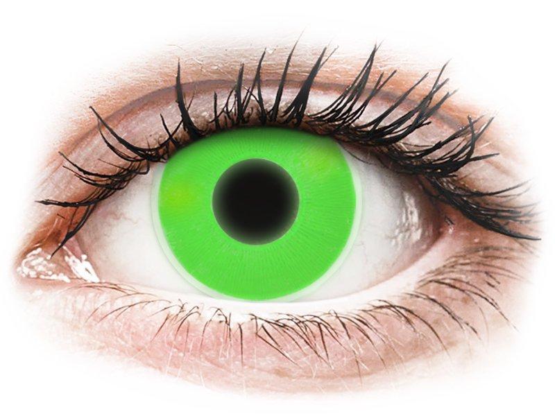 ColourVUE Crazy Glow Green - non correttive (2lenti)