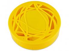 Astuccio con specchietto - Yellow ornament
