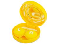 Lenti a contatto - Astuccio con specchietto - Yellow ornament