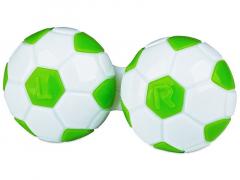 Astuccio porta lenti Football - green