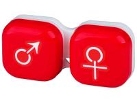 Lenti a contatto - Astuccio porta lenti man&woman - red