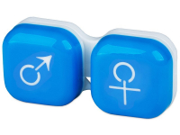 Lenti a contatto - Astuccio porta lenti man&woman - blue
