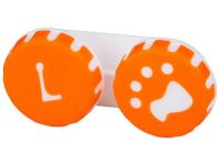 Lenti a contatto - Astuccio porta lenti Paw orange