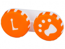 Astuccio porta lenti Paw orange