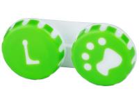 Lenti a contatto - Astuccio porta lenti Paw green