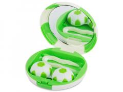 Astuccio con specchietto Football - green