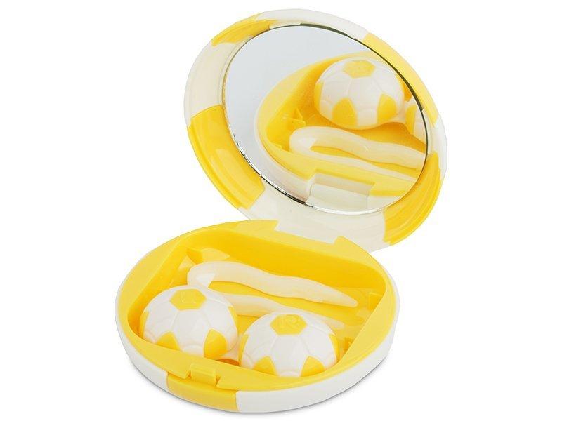 Astuccio con specchietto Football - yellow