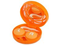Lenti a contatto - Astuccio con specchietto - Orange ornament