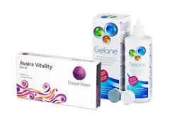 Avaira Vitality Toric (3 lenti) + soluzione Gelone 360 ml