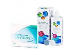 PureVision 2 (3 lenti) + soluzione Gelone 360 ml