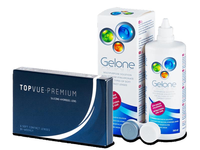 TopVue Premium (6 lenti) + soluzione Gelone 360 ml