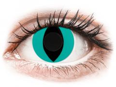 CRAZY LENS - Cat Eye Aqua - giornaliere non correttive (2 lenti)