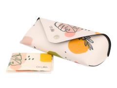 Custodia Crullé con panno per pulizia occhiali - Pastel Plant