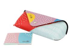 Custodia Crullé con panno per pulizia occhiali - Dreamy Balloons