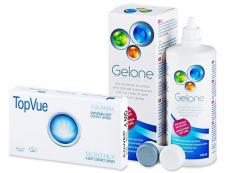 TopVue Monthly (6 lenti) + soluzione Gelone 360 ml